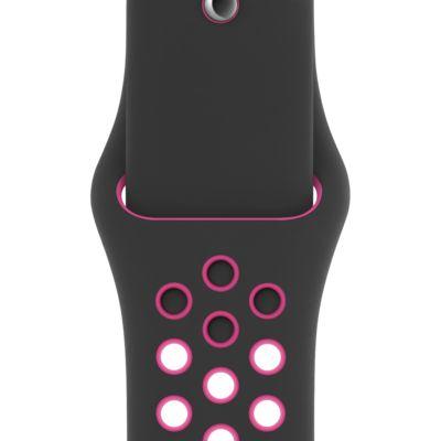 Apple Watch Nike Correa Nike Sport Negra/Rosa intenso de 44 mm