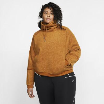 Nike Therma Women's Fleece Long-Sleeve Training Top (Plus Size)