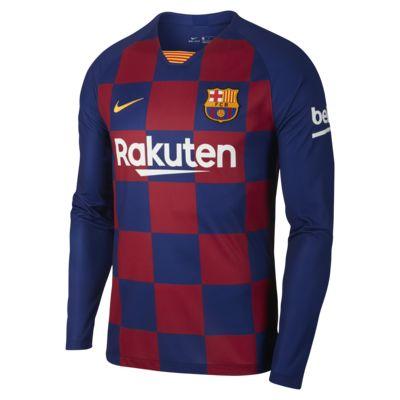 Camisola de futebol de manga comprida FC Barcelona 2019/20 Stadium Home para homem