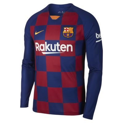 FC Barcelona 2019/20 Stadium Home Men's Long-Sleeve Soccer Jersey