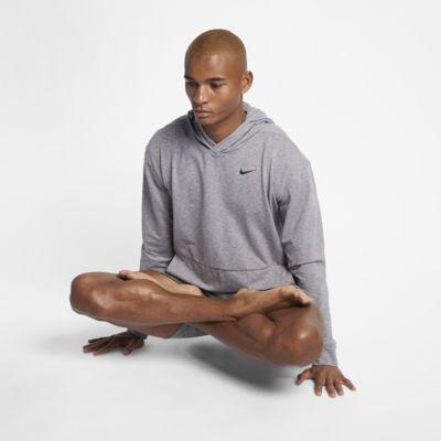 Nike Dri-FIT belebújós, hosszú ujjú, kapucnis férfi edzőpulóver jógához