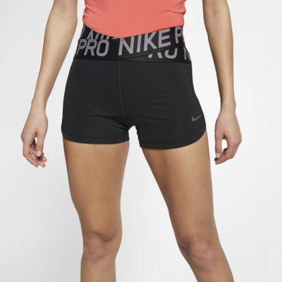 Купить Женские шорты Nike Pro Intertwist 8 см, Черный/Thunder Grey, 22614326, 12486948