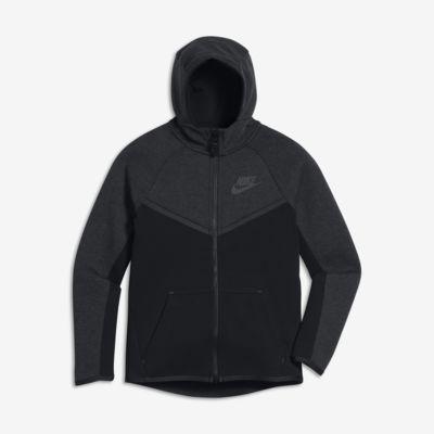 Sweat à capuche entièrement zippé Nike Sportswear Tech Fleece Windrunner pour Garçon plus âgé