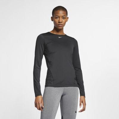 Langærmet Nike Pro-mesh-top til kvinder