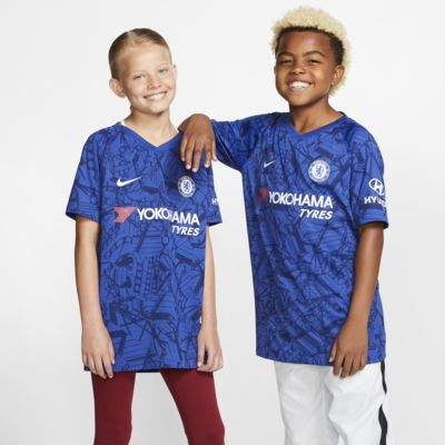 Camiseta de fútbol de local para niños talla grande Chelsea FC 2019/20 Vapor Match