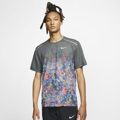 Ανδρική εμπριμέ κοντομάνικη μπλούζα για τρέξιμο Nike Rise 365