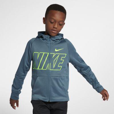 Nike Dri-FIT Therma Big Kids' (Boys') Full-Zip Training Hoodie