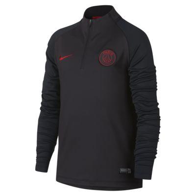 Футболка для футбольного тренинга для школьников Nike Dri-FIT Paris Saint-Germain Strike