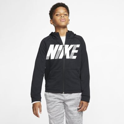 Sweat à capuche de training à motif et zip Nike Dri-FIT pour Enfant plus âgé