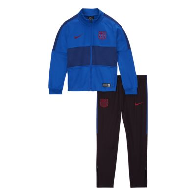 FC Barcelona Strike Younger Kids' Football Tracksuit