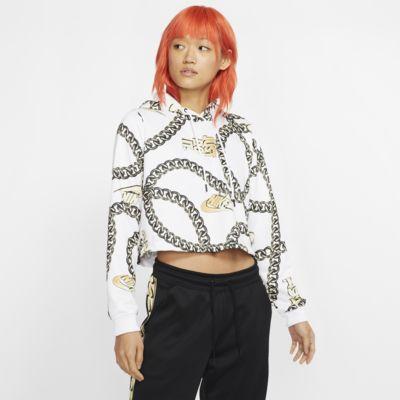 เสื้อมีฮู้ดเอวลอยผู้หญิง Nike Sportswear