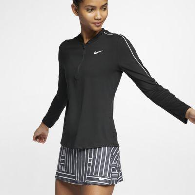 NikeCourt Dri-FIT Yarım Fermuarlı Kadın Tenis Üstü
