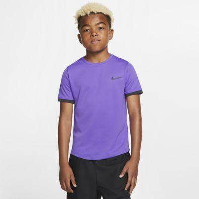 Tenisové tričko NikeCourt Dri-FIT s krátkým rukávem pro větší děti (chlapce)