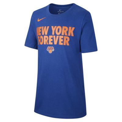 New York Knicks Nike Dri-FIT NBA-T-shirt til drenge