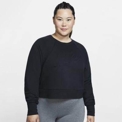 Långärmad träningströja Nike Dri-FIT för kvinnor (stora storlekar)