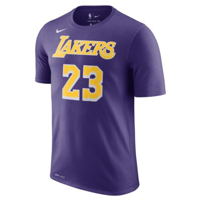 Мужская футболка НБА LeBron James Los Angeles Lakers Nike Dri-FIT
