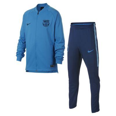 Conjunto de entrenamiento de fútbol para niños talla grande FC Barcelona Dri-FIT Squad