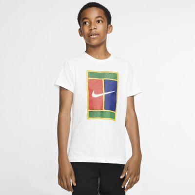 T-shirt do tenisa dla chłopców NikeCourt