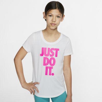Playera de entrenamiento para niña talla grande Nike Dri-FIT