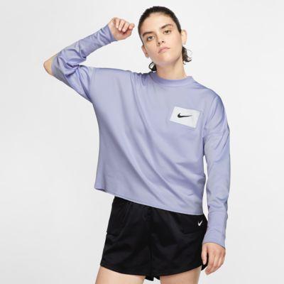 Nike-mellemlag-crewtrøje til løb til kvinder