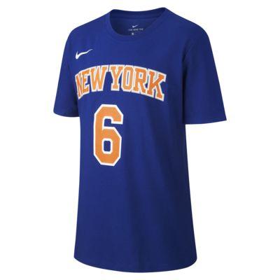 Nike Icon NBA Knicks (Porzingis) Basketbalshirt voor jongens