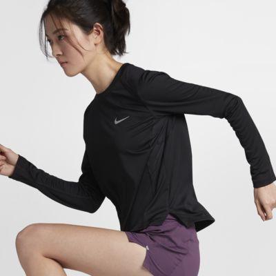 เสื้อวิ่งแขนยาวผู้หญิง Nike Miler