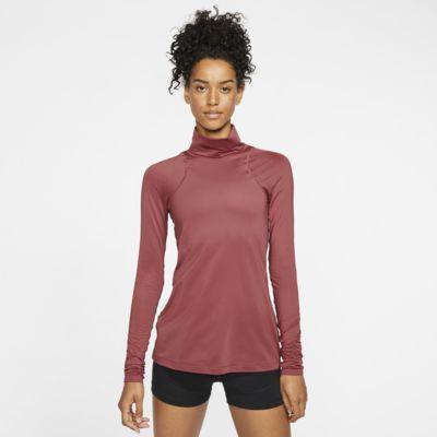 Camisola metalizada de manga comprida Nike Pro para mulher