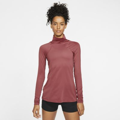 Långärmad tröja Nike Pro Warm i metallic för kvinnor
