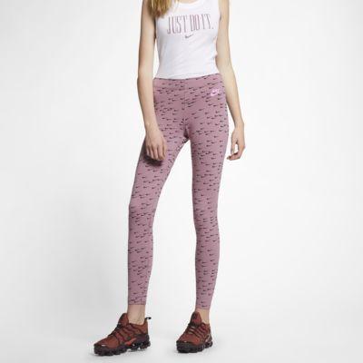 Dámské legíny Nike Sportswear Leg-A-See Swoosh s potiskem