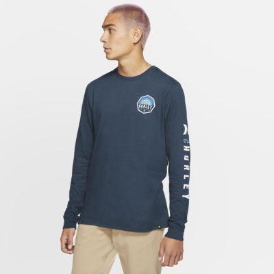 Hurley Premium Hexer Langarm-T-Shirt für Herren