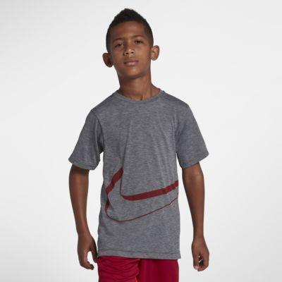 Tréninkové tričko s dlouhým rukávem Nike Dri-FIT Breathe pro větší děti (chlapce)