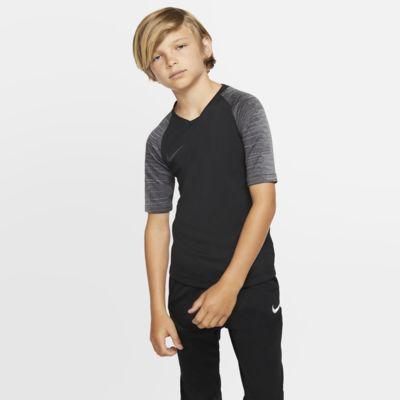 Koszulka piłkarska z krótkim rękawem dla dużych dzieci Nike Breathe Strike