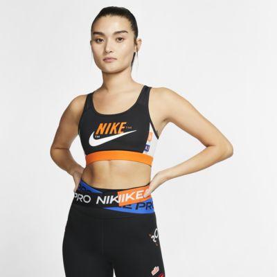 Nike Swoosh Icon Clash Sujetador deportivo de sujeción media con almohadilla de una sola pieza- Mujer