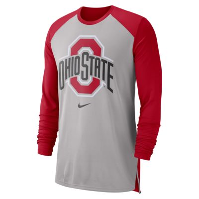 Nike College Breathe (Ohio State) Men's Long-Sleeve Top