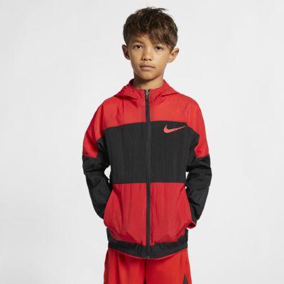 Kurtka treningowa z tkaniny dla dużych dzieci Nike Dri-FIT