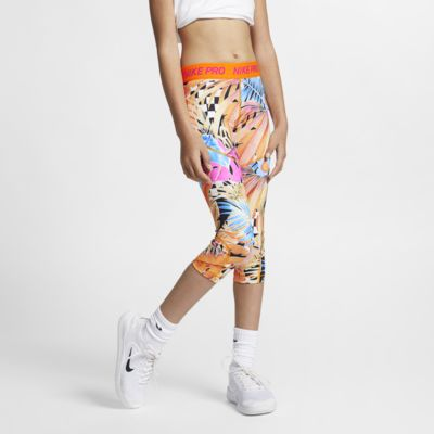 Capris estampadas Nike Pro Júnior (Rapariga)