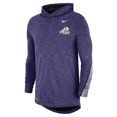 Nike College (TCU) Men's Long-Sleeve Hooded T-Shirt
