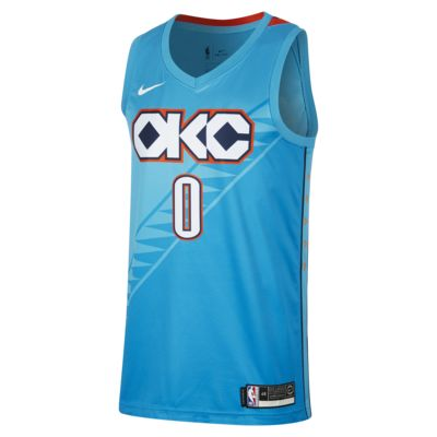 Camiseta conectada Nike NBA para hombre Russell Westbrook City Edition Swingman (Oklahoma City Thunder)