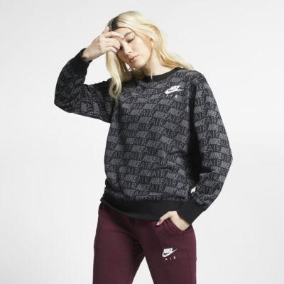 Mönstrad tröja med rund krage Nike Air för kvinnor