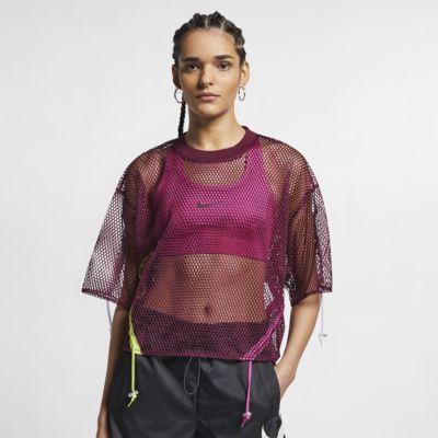 Nike Sportswear Women's Short-Sleeve Mesh Top