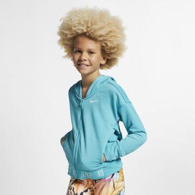 Nike Trainings-Hoodie mit durchgehendem Reißverschluss für ältere Kinder (Mädchen)