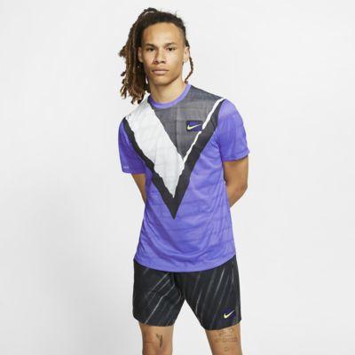 Kortärmad tenniströja NikeCourt Challenger för män