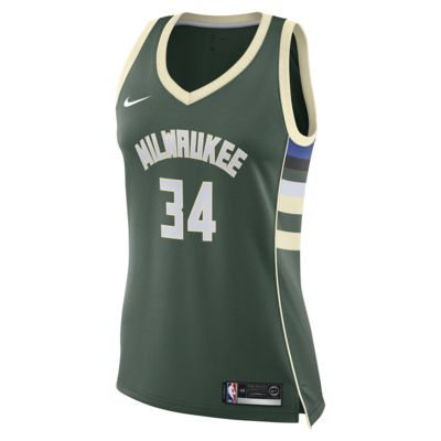 Giannis Antetokounmpo Icon Edition Swingman (Milwaukee Bucks) Women's Nike NBA Connected Jersey