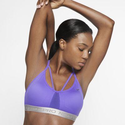 Nike Pro AeroAdapt Indy enyhe tartást adó női sportmelltartó
