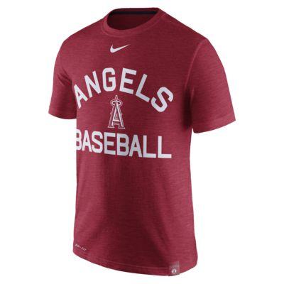 Men's T-Shirt. Nike Dri-FIT Arch Logo (MLB Angels)