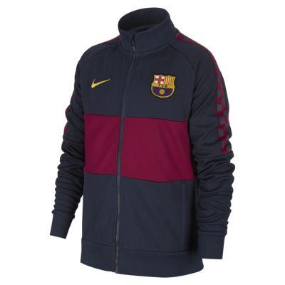 Chamarra de fútbol para niños talla grande FC Barcelona