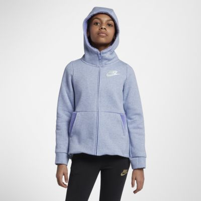 Nike Sportswear Big Kids' (Girls') Full-Zip Hoodie