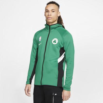 Pánská mikina NBA Boston Celtics Nike Therma Flex Showtime s kapucí