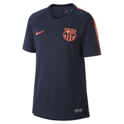 FC Barcelona Nike Breathe Squad Older Kids' Short-Sleeve Football Top