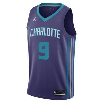 Statement Edition Swingman (Charlotte Hornets) Eşleştirilmiş Jordan NBA Erkek Forması